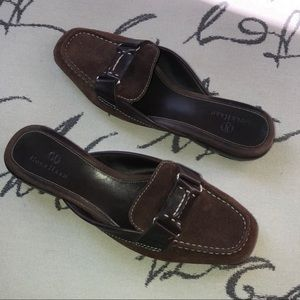 Cole Haan Nike Air brown suede loafers ғʟᴀᴛs